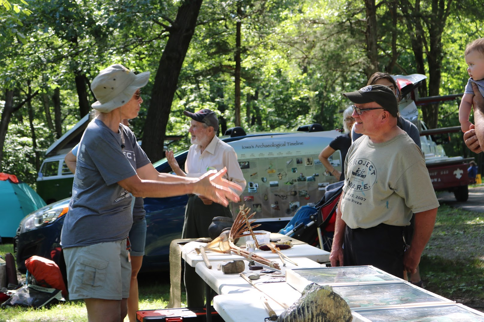 An outdoor outreach event, photo by the Iowa DNR