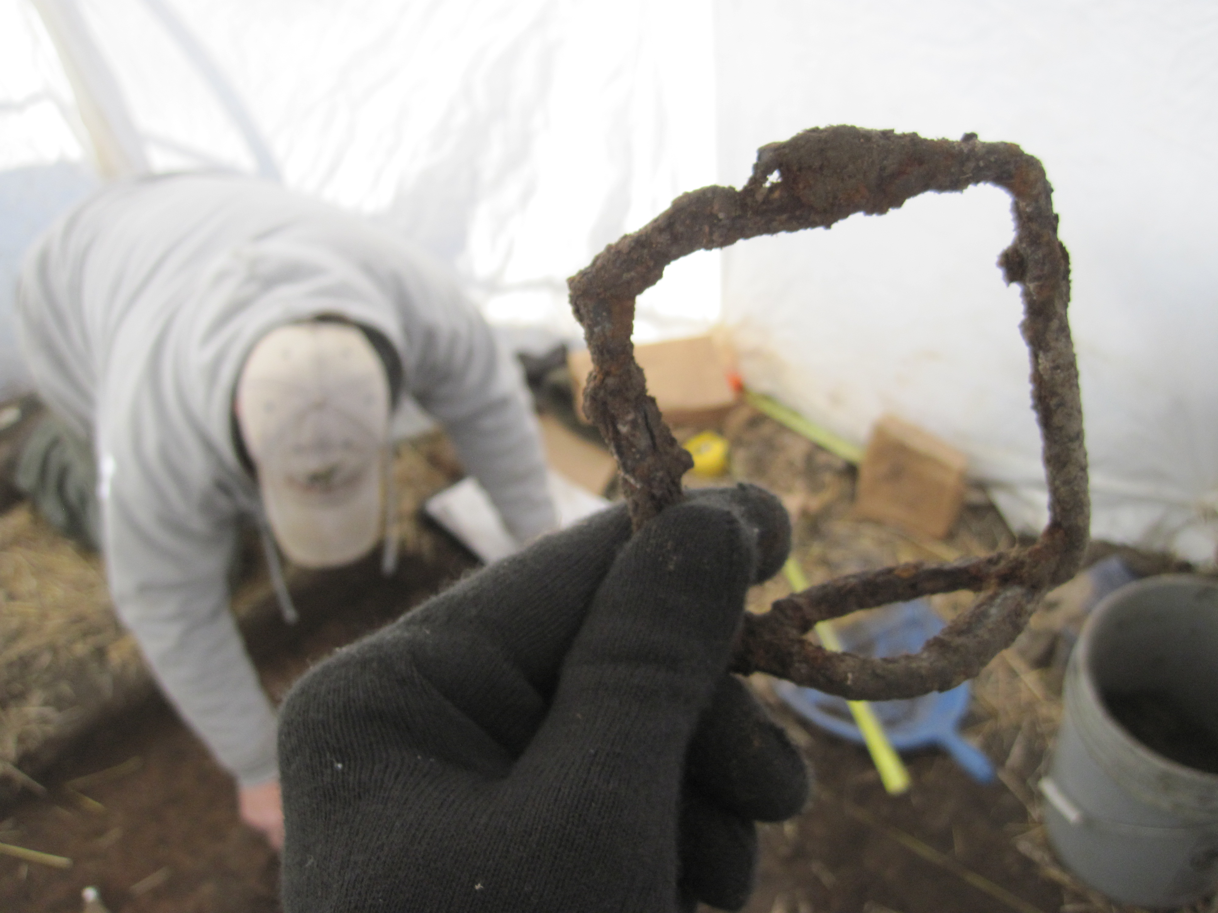 Stirrup recovered during excavation.