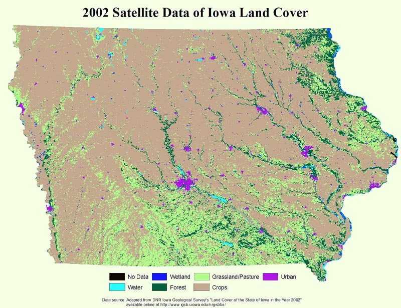 2002 Satellite Data of Iowa Land Cover