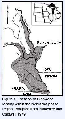 Location of Glenwood locality within the Nebraska phase region