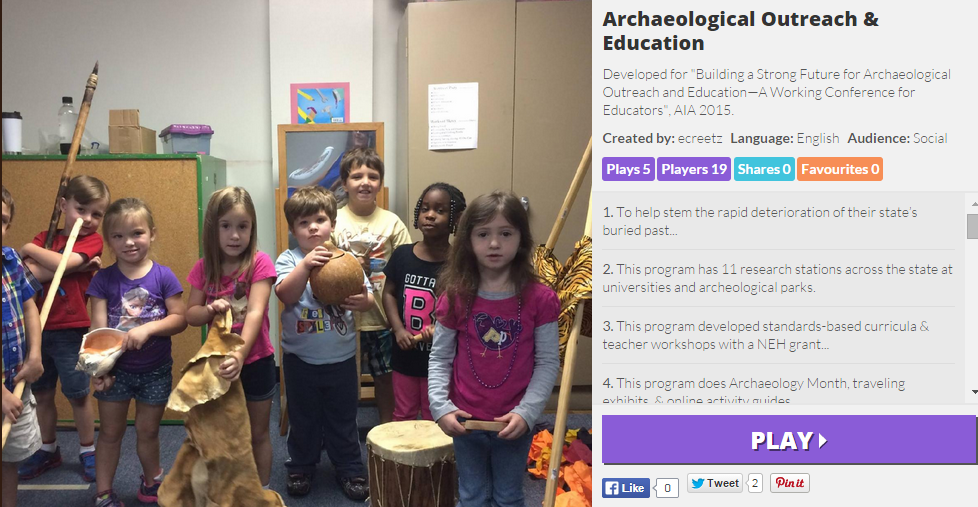 Play the Archaeology Education Kahoot Game