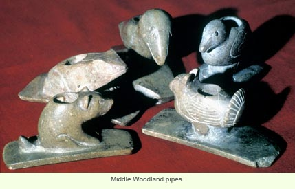 Middle woodland pipes