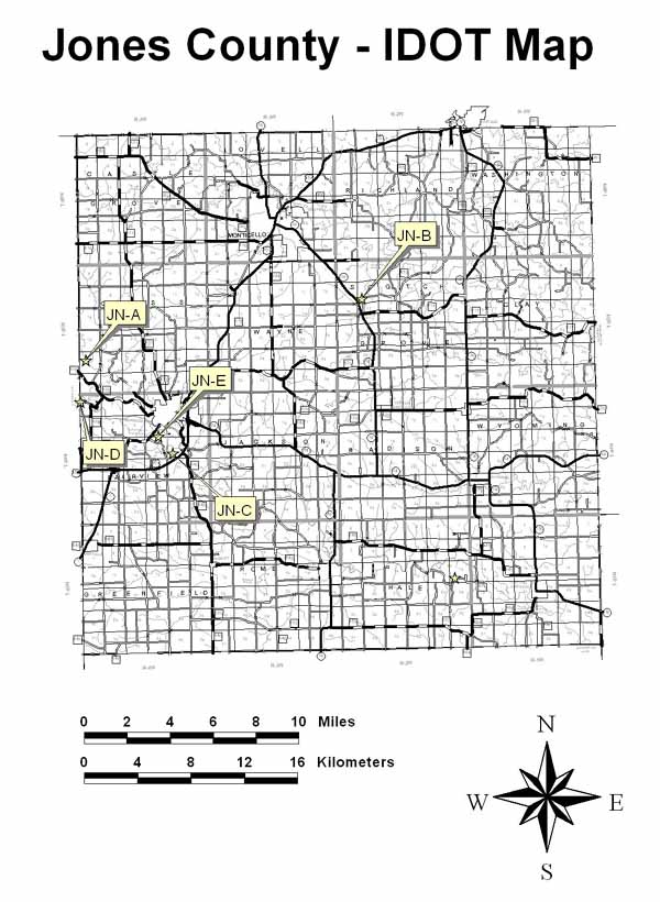 Jones County - IDOT Map
