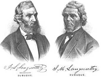 James Langworthy (left) and Solon M. Langworthy (right)