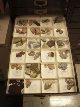 Figure 7. Individual lithic drawer matching drawer maps.