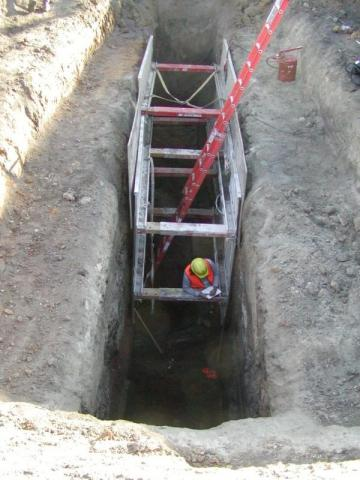 Deep trenching at Fort Des Moines