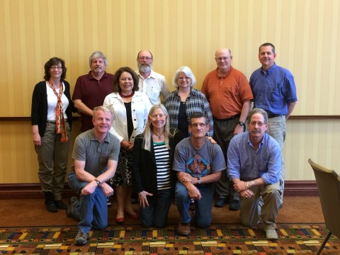 State Archaeologists 2014 @ SAAs Austin, TX: front row, Scott MN, Gio VT, Chip LA, Paul ND; middle row, Pat TX, Jan NM; back row, Ruth DC, Mike TN, Dick NH, Dave OH, John IA.