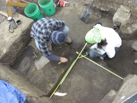 More Excavating inside a tent