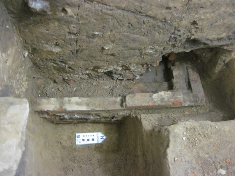 Excavated house foundation