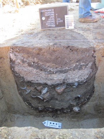 A privy feature from the School of Music excavations at the University of Iowa