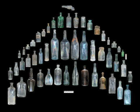 Selected early 20th century bottles recovered from Feature 1