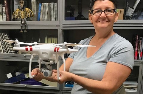 Mary and her Phantom 3 drone