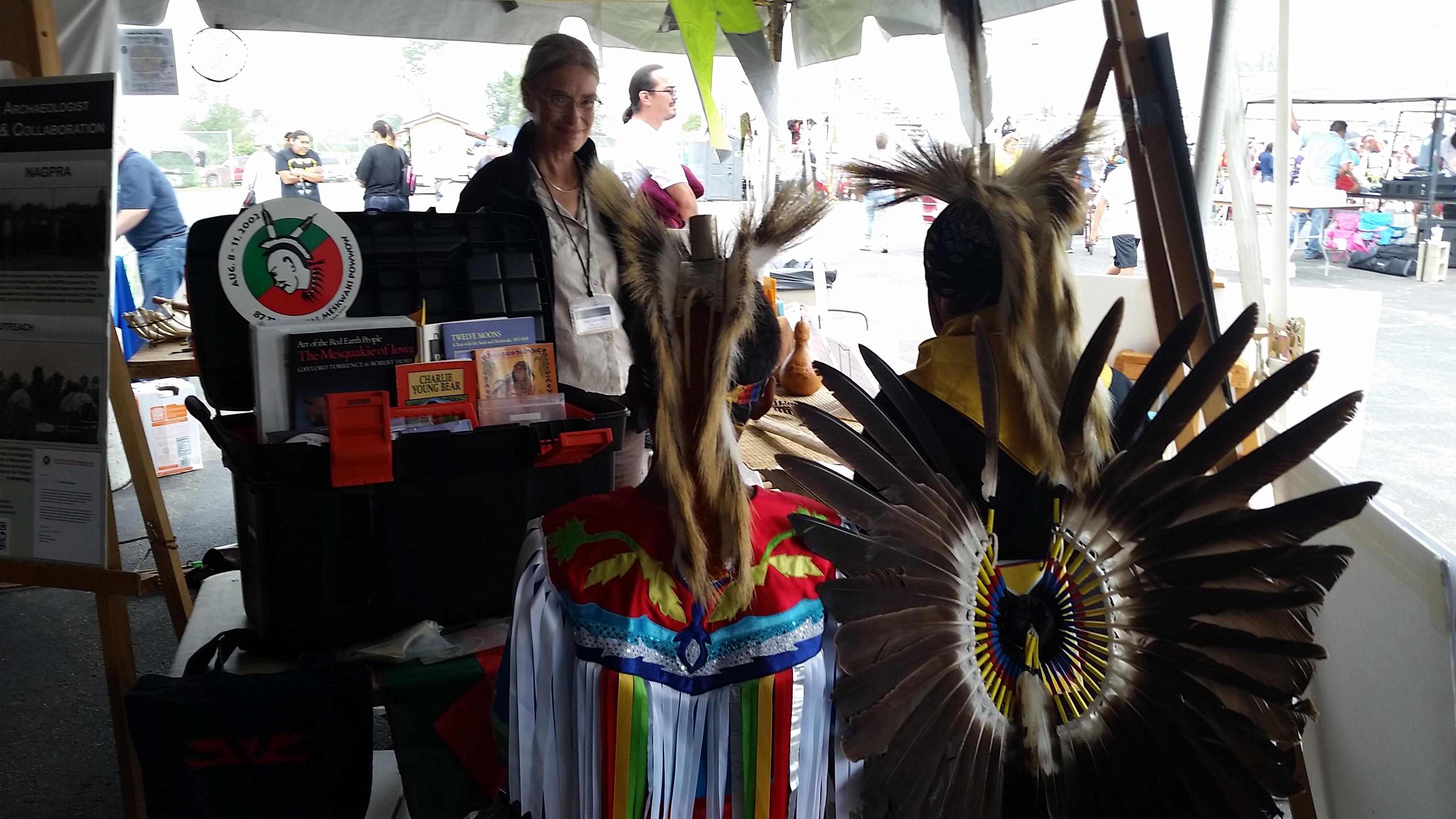 Exhibit booth at Meskwaki Powwow