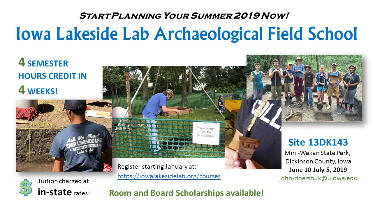 2019 Lakeside Lab field school poster