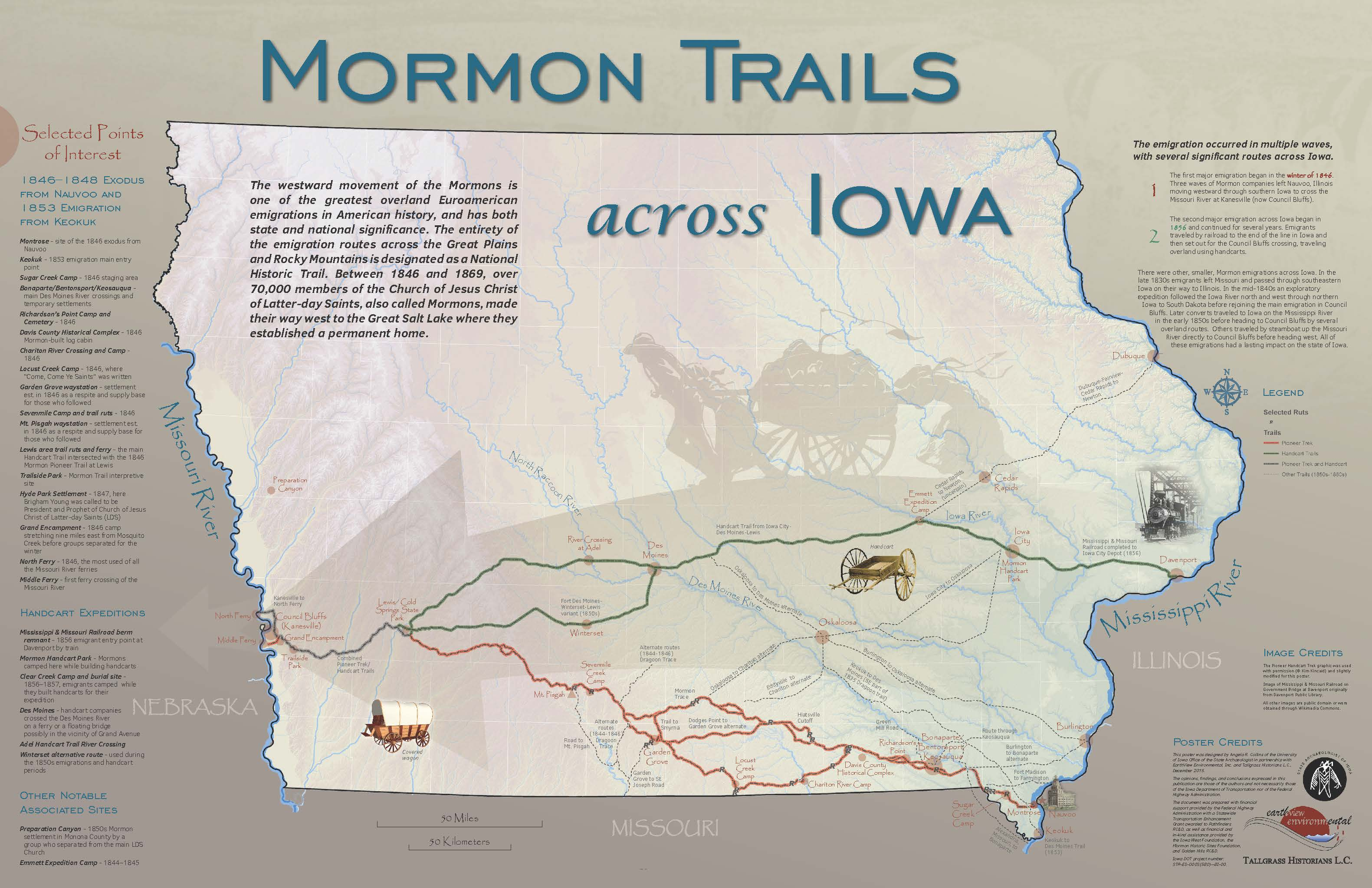 Mormon Trail Poster for Distribution