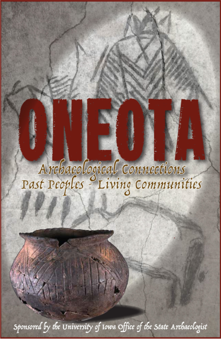 Poster for Oneota Archaeological Connections Exhibit